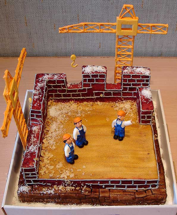 building cake