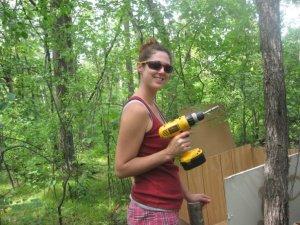 Nikki with a tool!