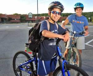 bikes to school