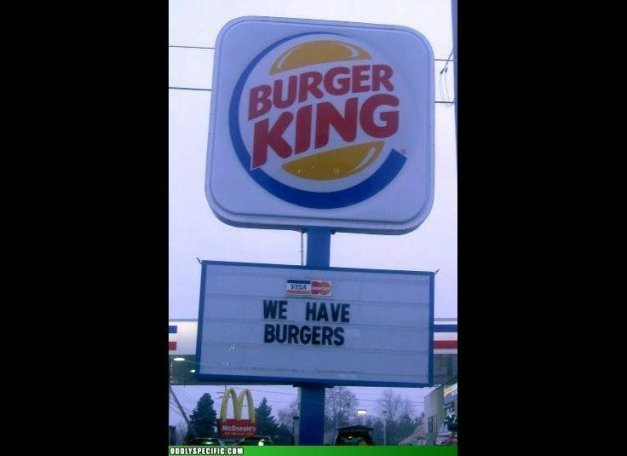 Funny Burger King: Us Girls..Our Views